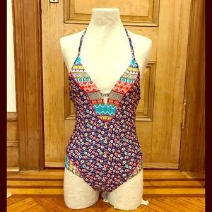 Laundry by Shelli Segal one-piece swimsuit, sz S.
